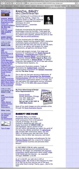BIRKEY.COM in 1998