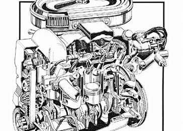 4-Cylinder Ford Engine Cutaway