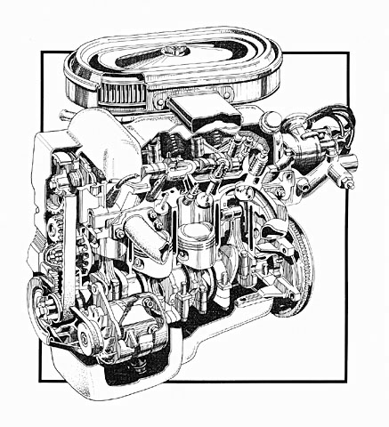 4 Cylinder Engine Cutaway
