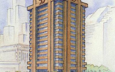 55 W. Wacker Drive Architectural Illustration