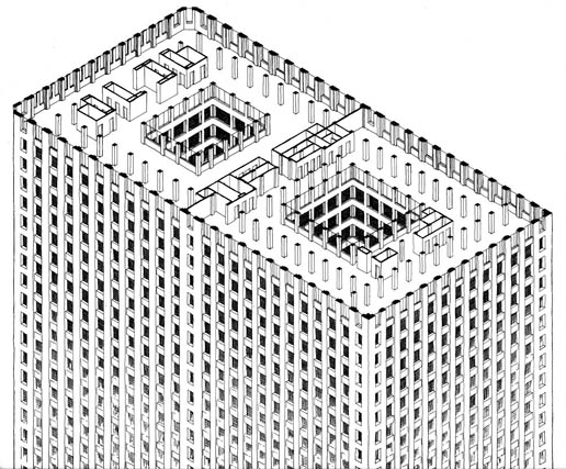 555 W. Jackson Isometric Cutaway