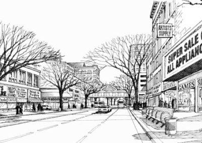 Streetscape Scene for CNA