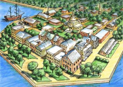 Aerial Map of Charleston, S.C.