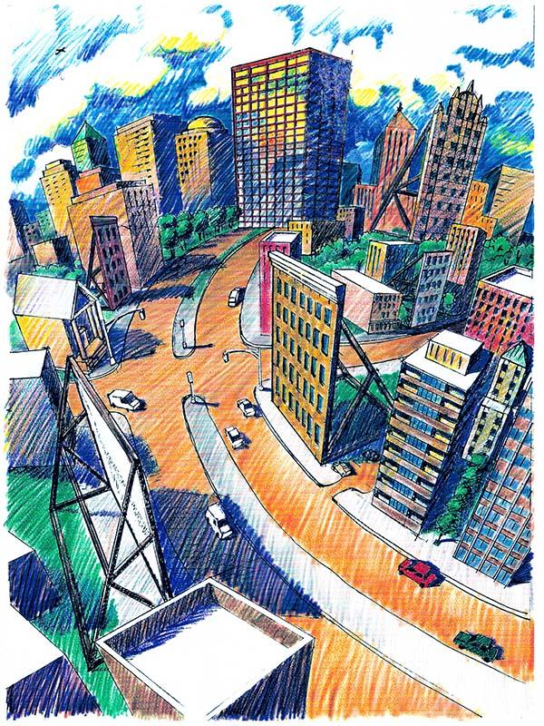City Facade Illustration