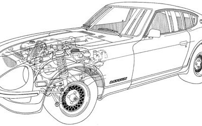 1972 Datsun 240Z Cutaway