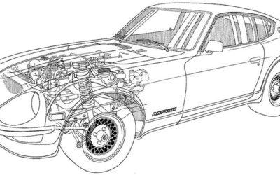 1972 Datsun 240z Cutaway Diagram