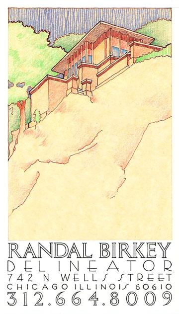 Randal Birkey Delineator Business Card