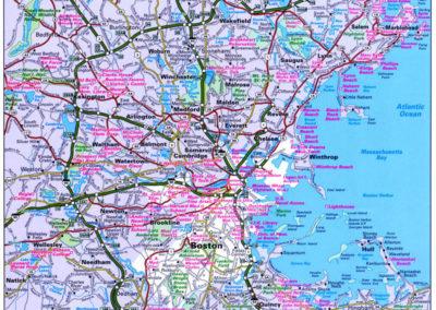 Boston Vicinity Map