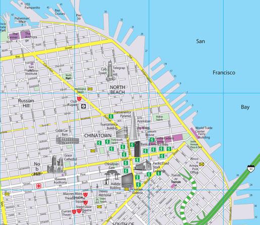 San Francisco CityFlash Street Map
