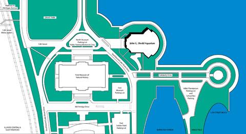 Shedd Aquarium Map Shedd Aquarium Campus Map | Randal Birkey Shedd Aquarium Map