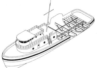 Tugboat Isometric Cutaway