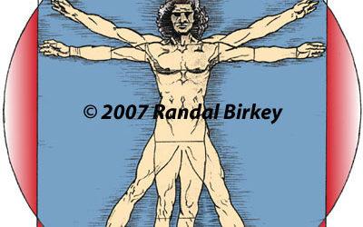 "Da Vinci's ""Vitruvian Man"" Adapted Illustration"