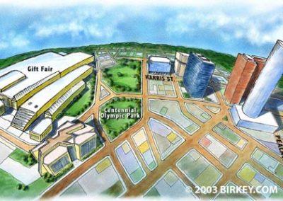 The Gift Fair Atlanta Map Illustration