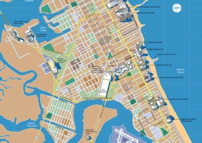Atlantic City, New Jersey, Map Illustration