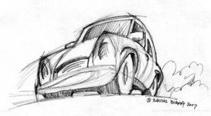 Crazy Car Sketch