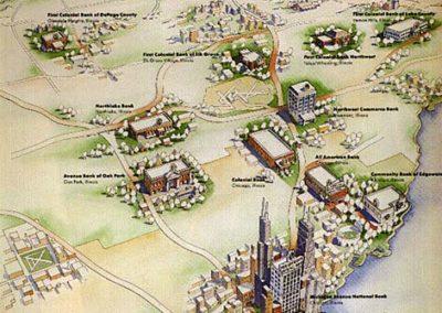 Michigan Avenue National Bank Aerial Map