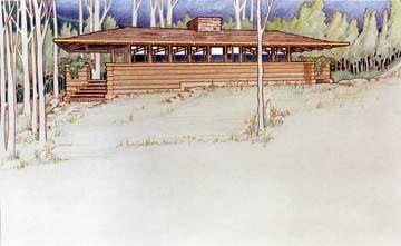 Summer Cottage in Prairie School Style