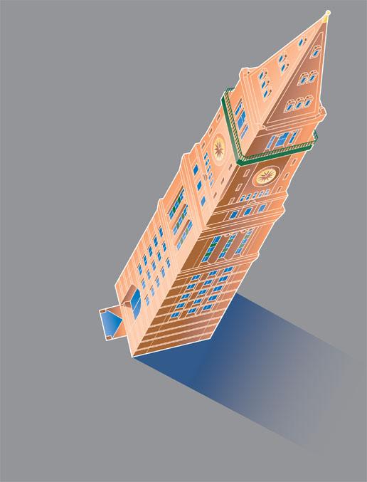 MetLife Tower - Adobe Illustrator vector art