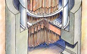 Nuclear Reactor Cutaway Illustration