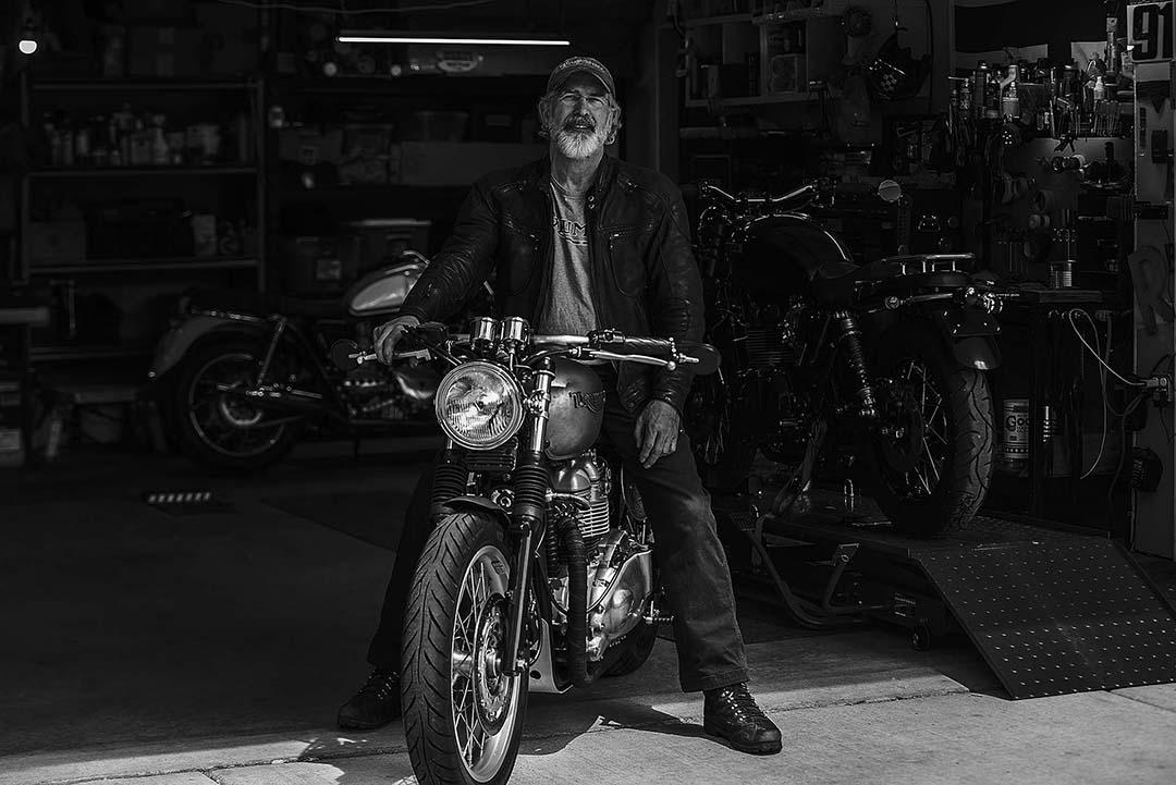 Randal Birkey in Garage