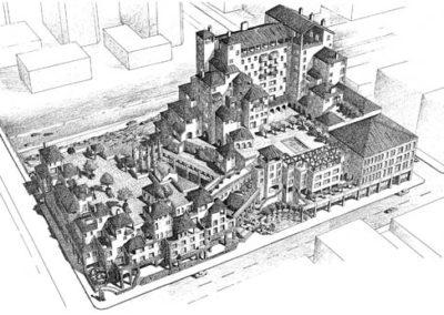 Greektown Development Aerial Perspective