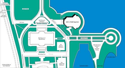 Shedd Aquarium & Oceanarium Campus Map